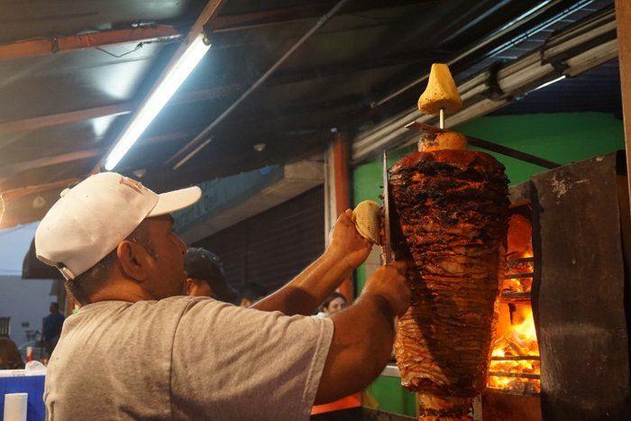 Mexican food tacos al pastor
