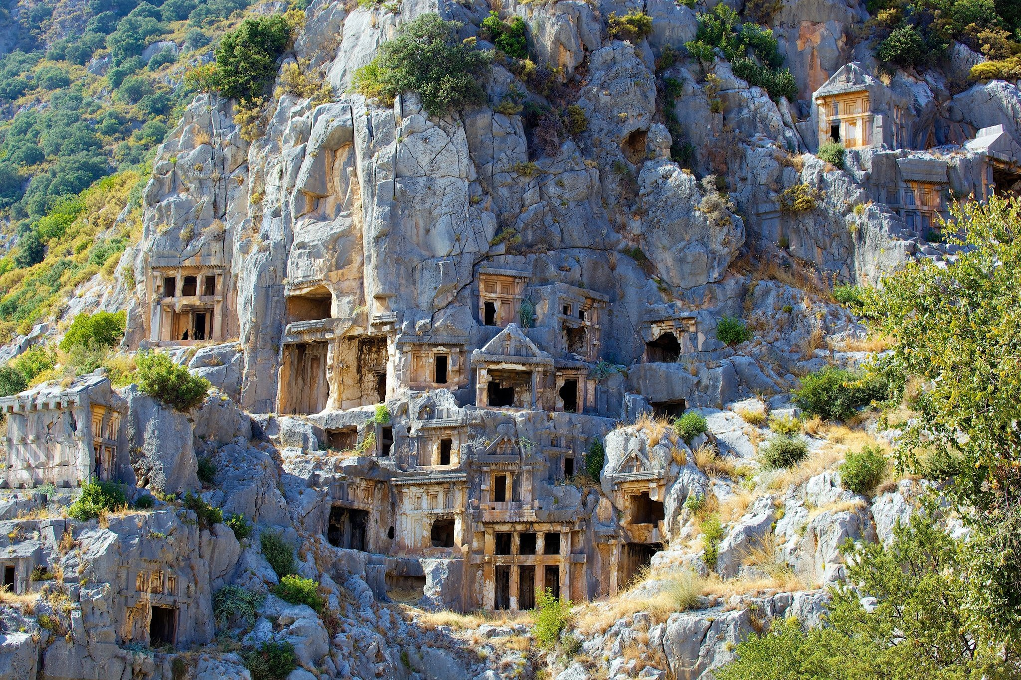 An example of the many Lycian ruins. backpacking turkey