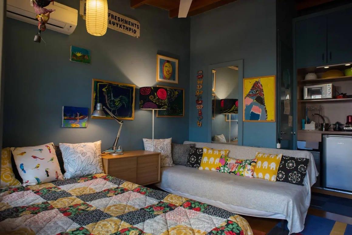 Dream studio inside multilevel garden