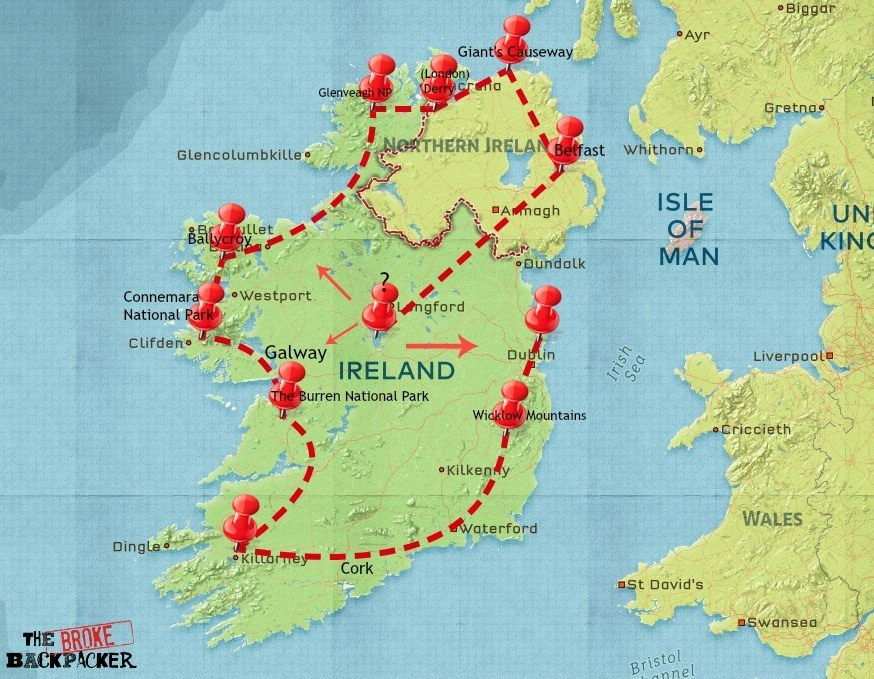backpacking ireland road trip itinerary