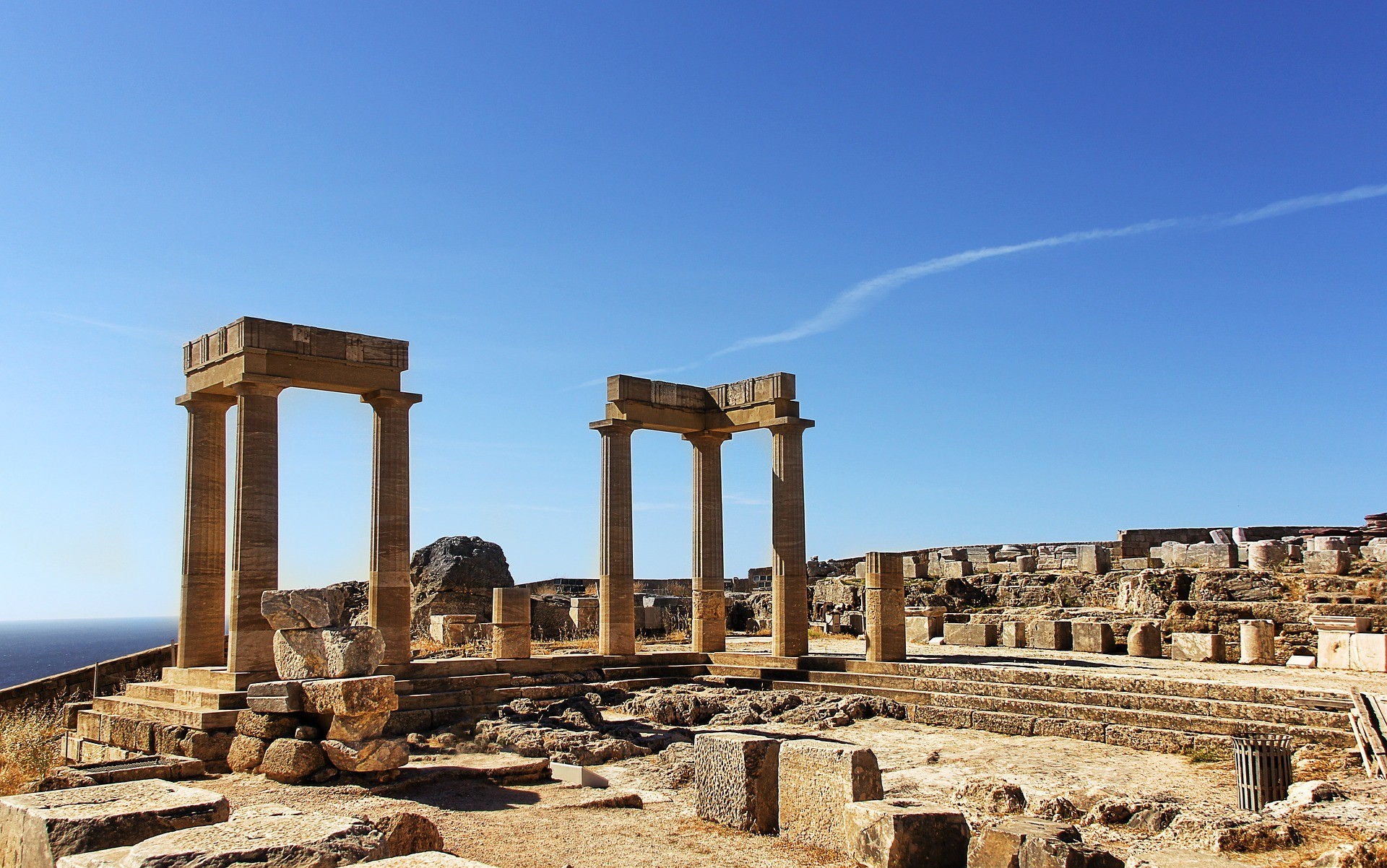 Ancient historical site in Lindos, Rhodes
