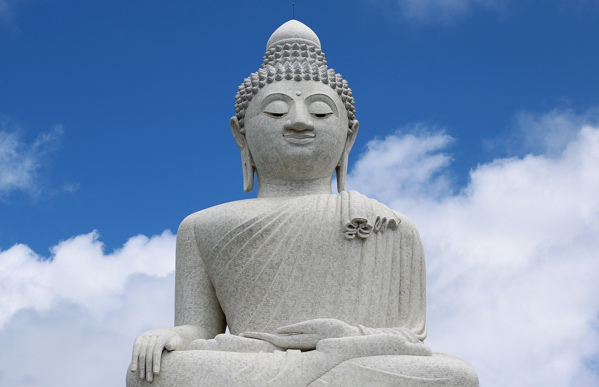A Buddha statue looking serene in Phuket