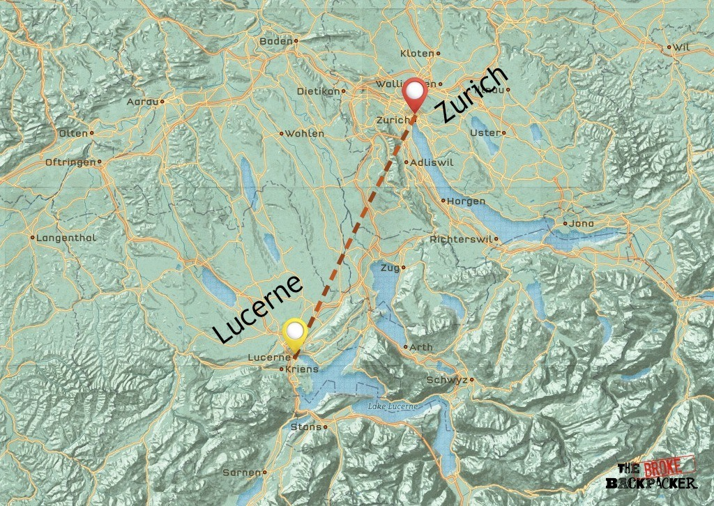 backpacking switzerland 4 days itinerary