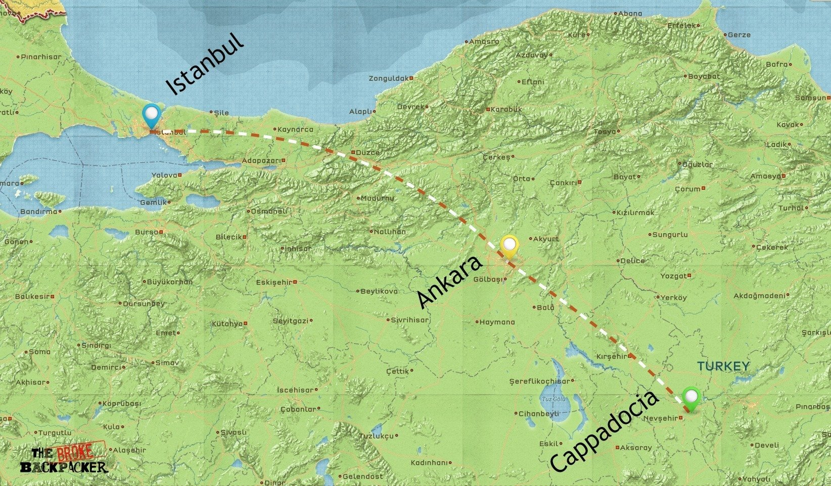 backpacking-turkey-itinerary-map-1-weeks