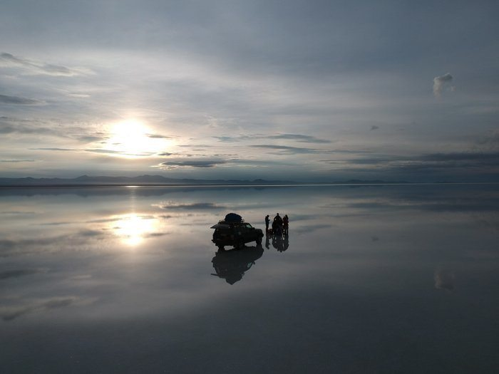 Backpacking Bolivia Salt Flats