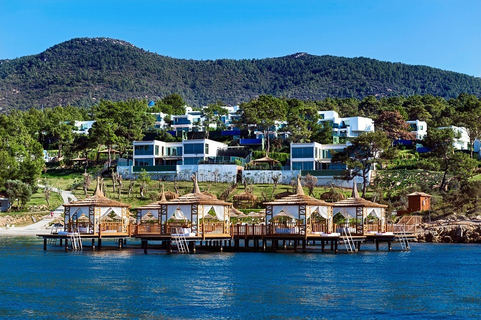 The luxury bungalows of Bodrum.