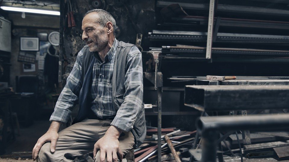 turkish man sitting down
