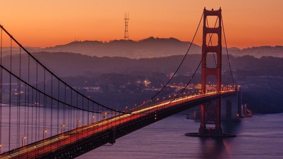 Night San Francisco golden gate bridge