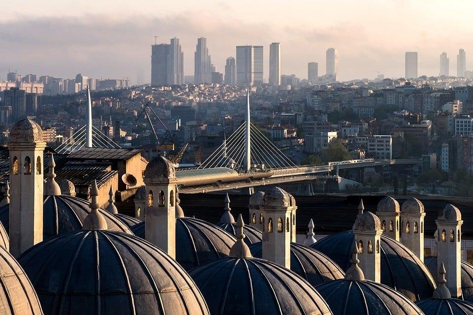 Views from Süleymaniye mosque istanbul turkey