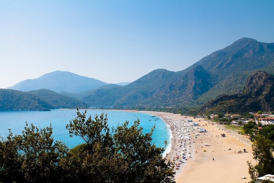 oludeniz beach turkish riviera