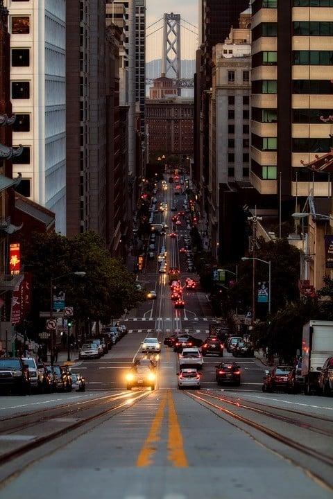 views of the Bay Bridge in San Francisco
