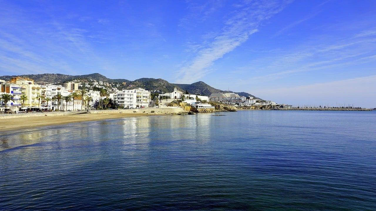 Sitges beach outside Barcelona