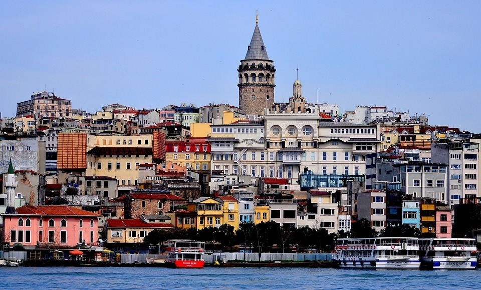 The iconic Galata Tower istanbul turkey