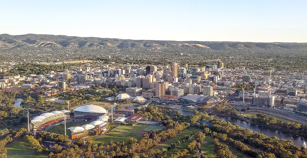 adelaide city center from air