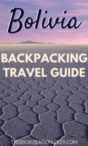 Bolivia Backpacking Travel Guide PIN