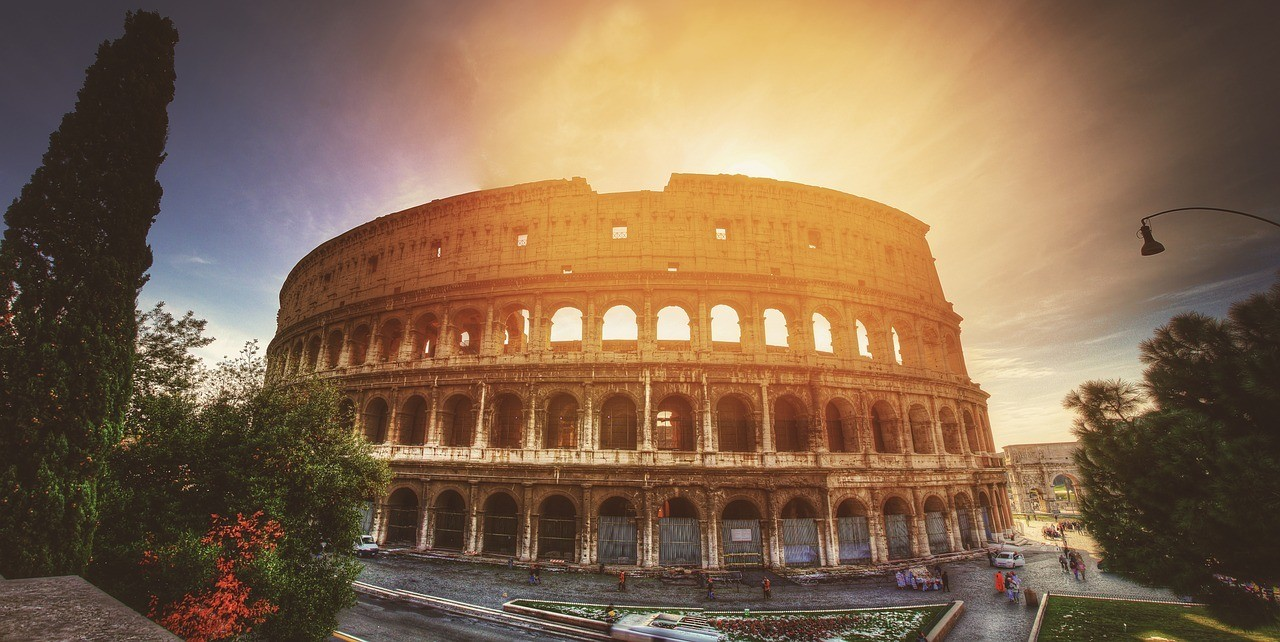 Rome Colosseum at sunset