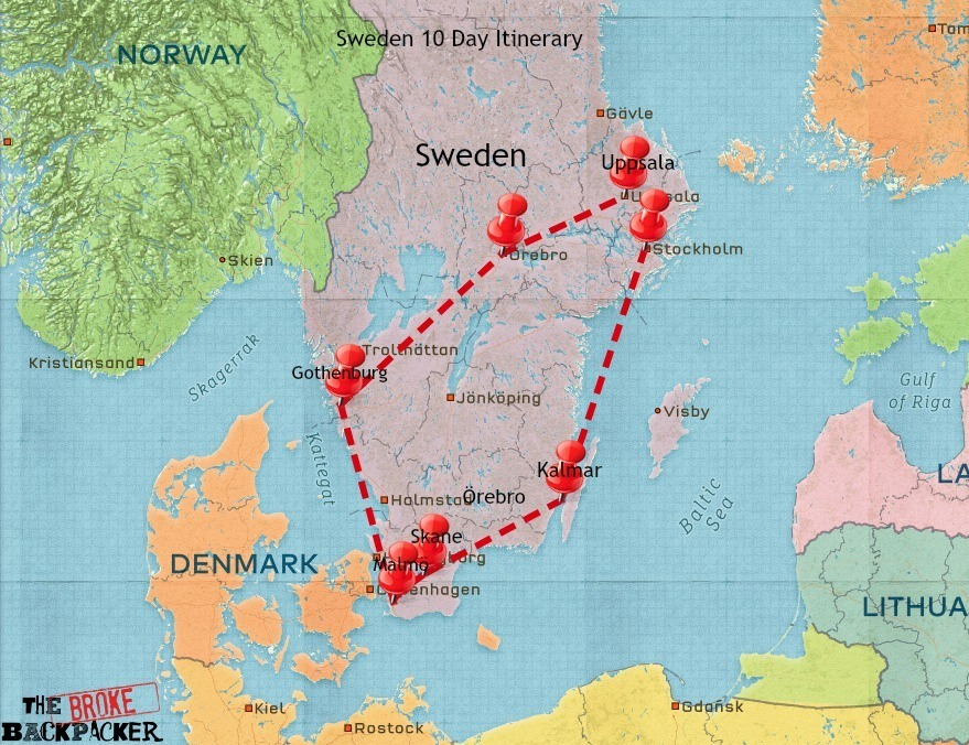 backpacking Sweden 10 day itinerary