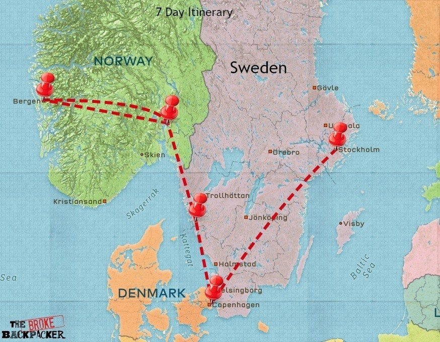 backpacking scandinavia travel itinerary