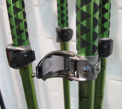 hiking pole locking mechanisms