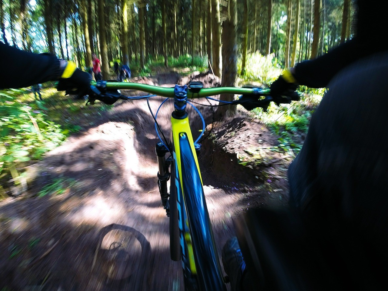 gopro mountain biking footage