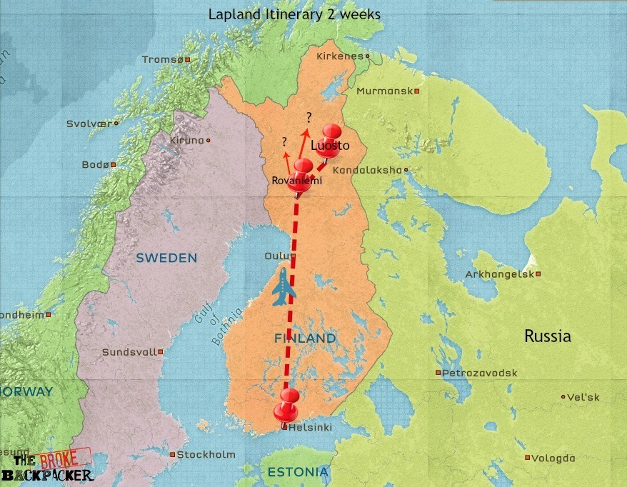 lapland travel itinerary