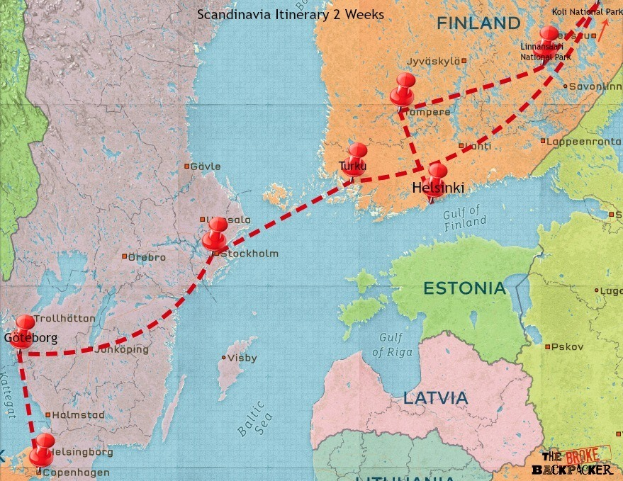 scandinavia travel itinerary 2 weeks