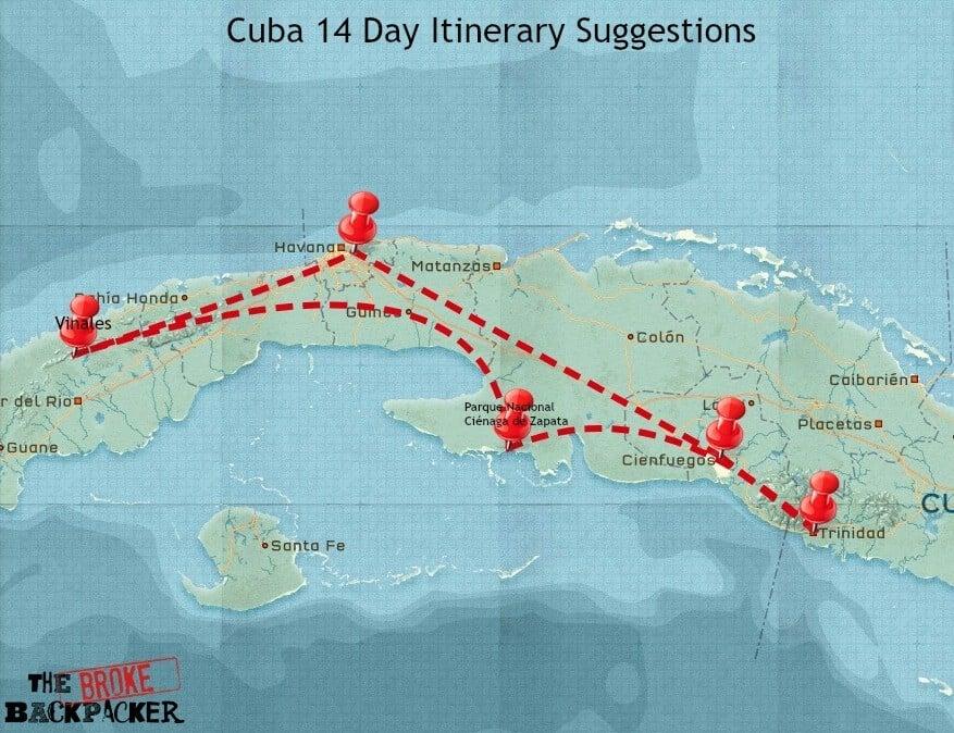 Cuba 14 day itinerary
