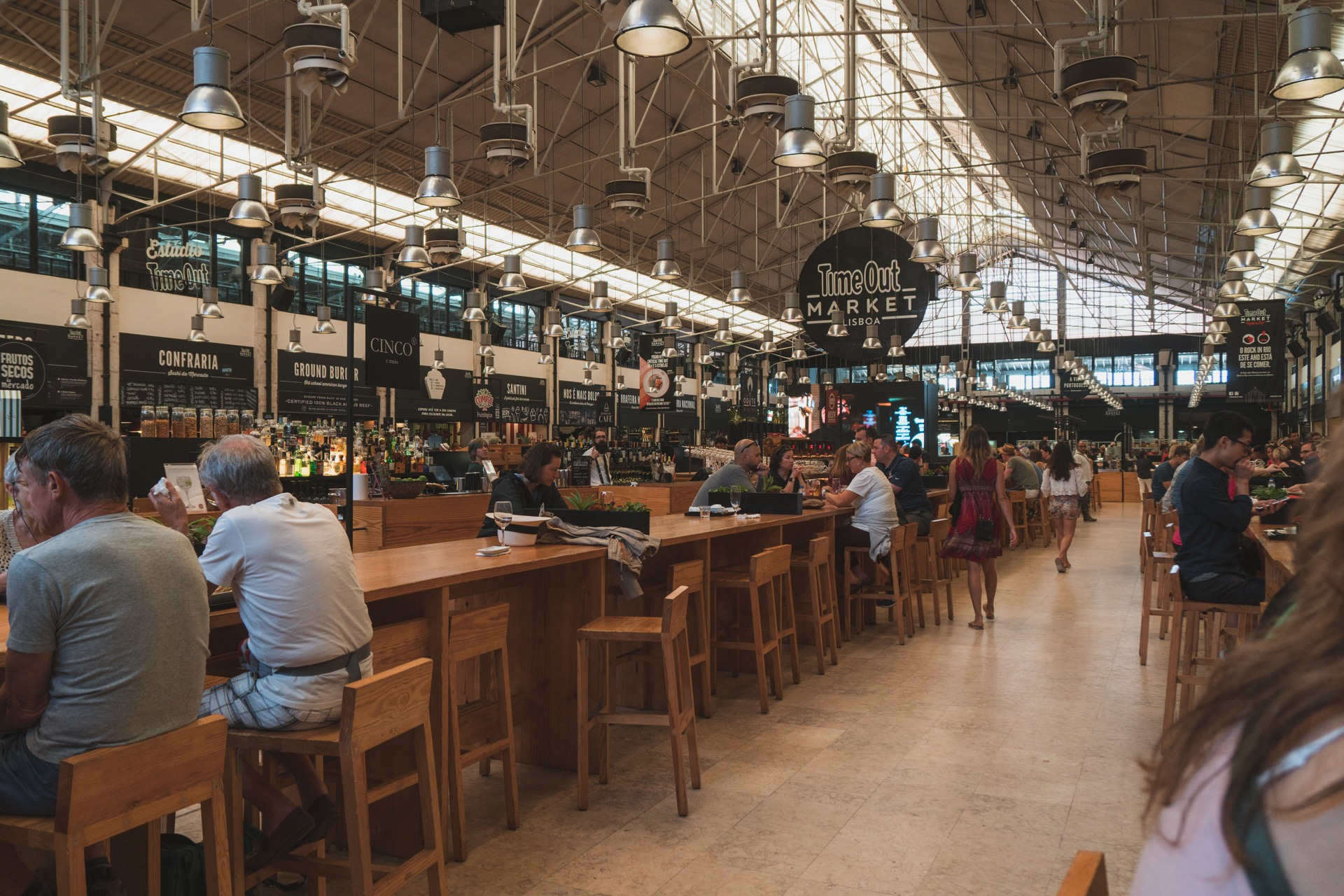 Awesome eats at Timeout Market in Lisbon Portugal