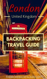 London Backpacking City Guide PIN