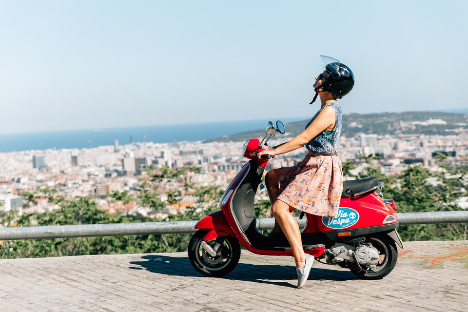 Rent a Vespa and zoom around the historic streets of Barcelona