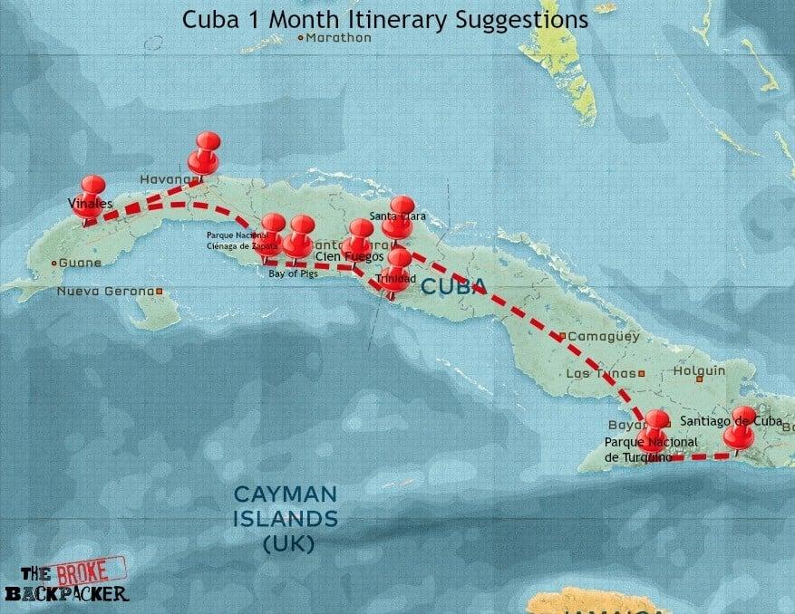 cuba 1 month itinerary