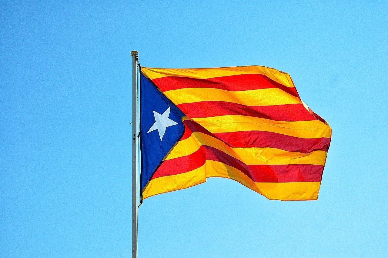 Catalonia flag in Catalonia