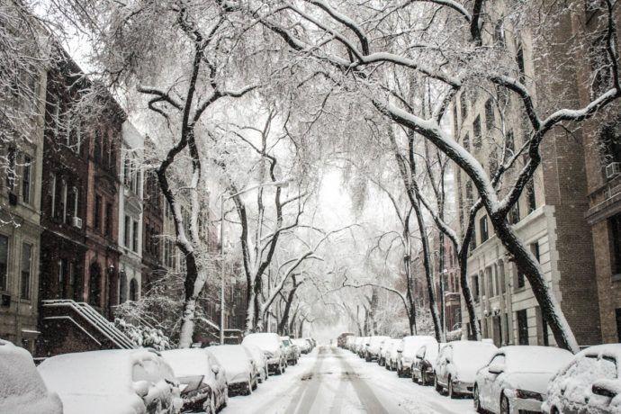 winter snow in new york city