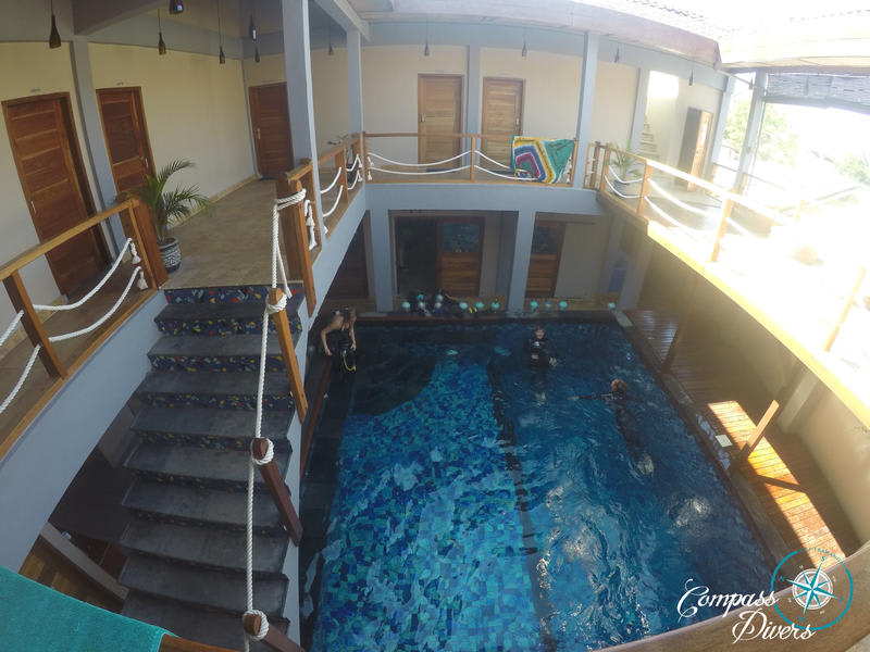 Compass Divers Hostel best hostels in Gili Island