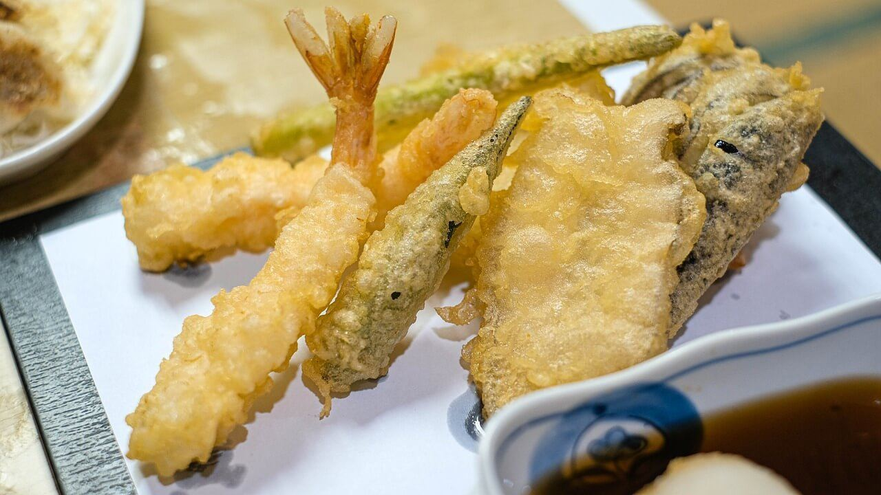 Enjoy a plate of tasty tempura