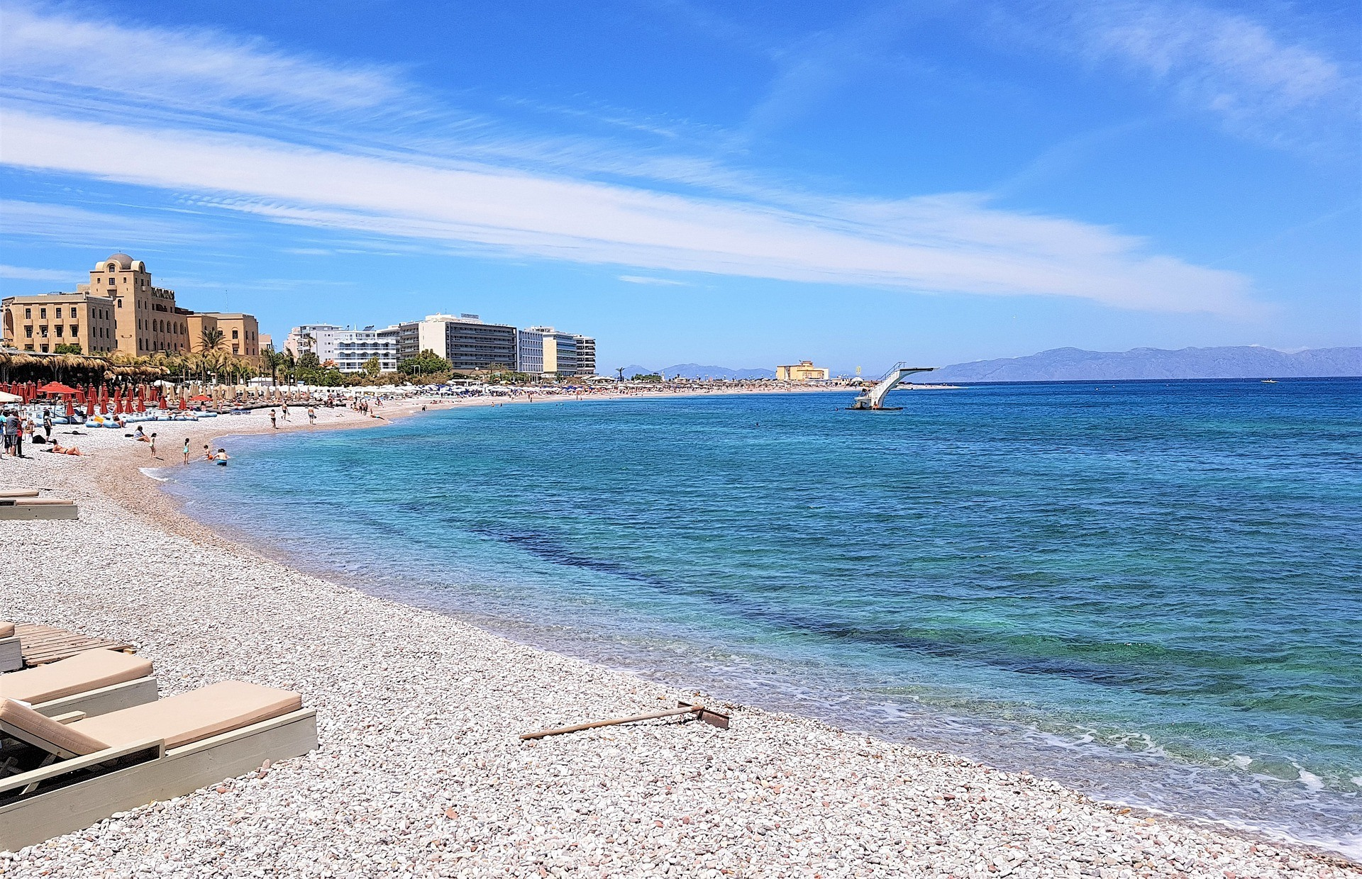 Ialyssos beach and resorts - best place to stay in Rhodes on a budget