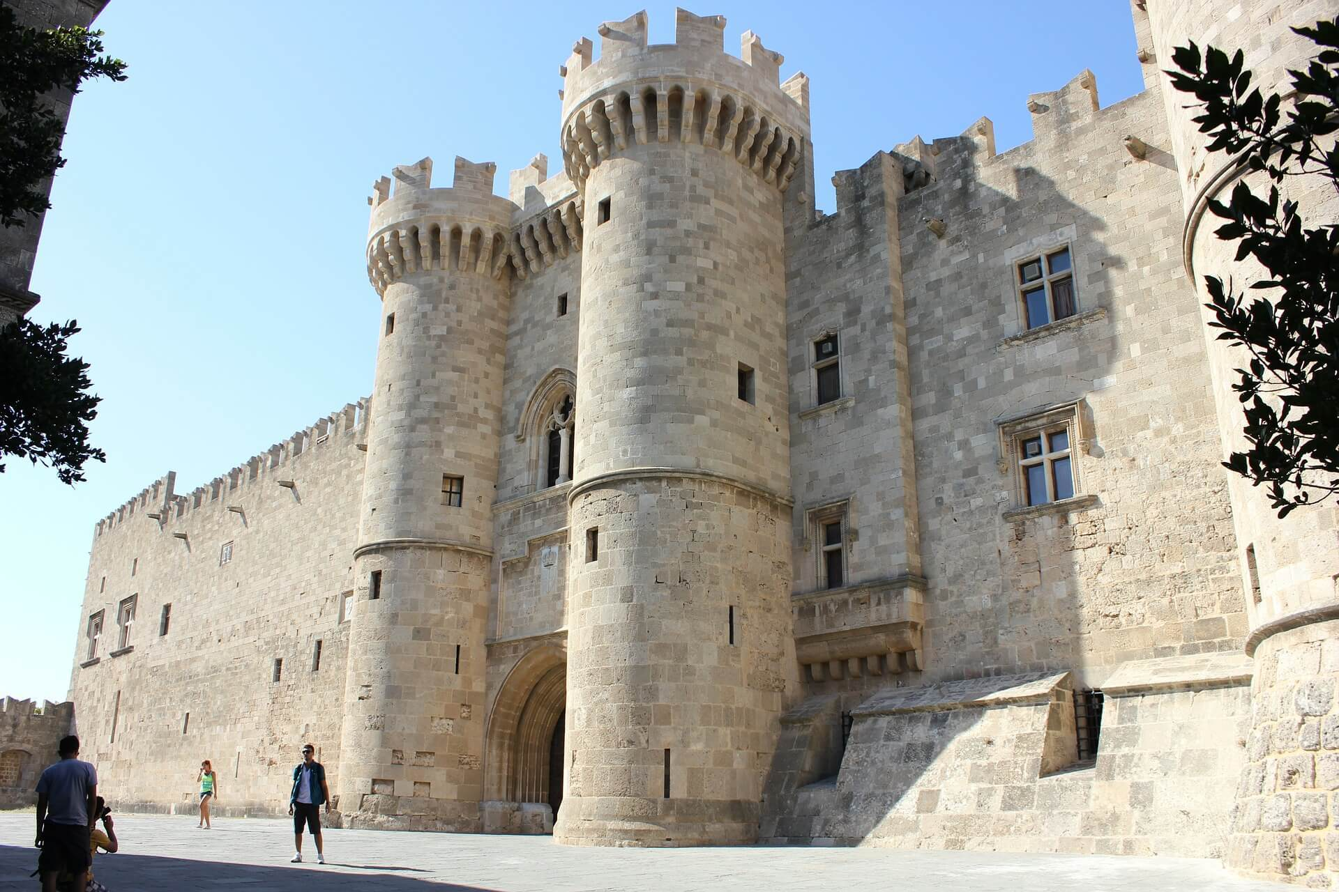 Rhodes Old Town ancient medieval castle