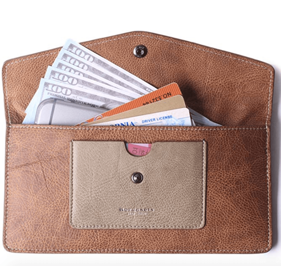 Borgasets Leather Women's Wallet best travel gifts