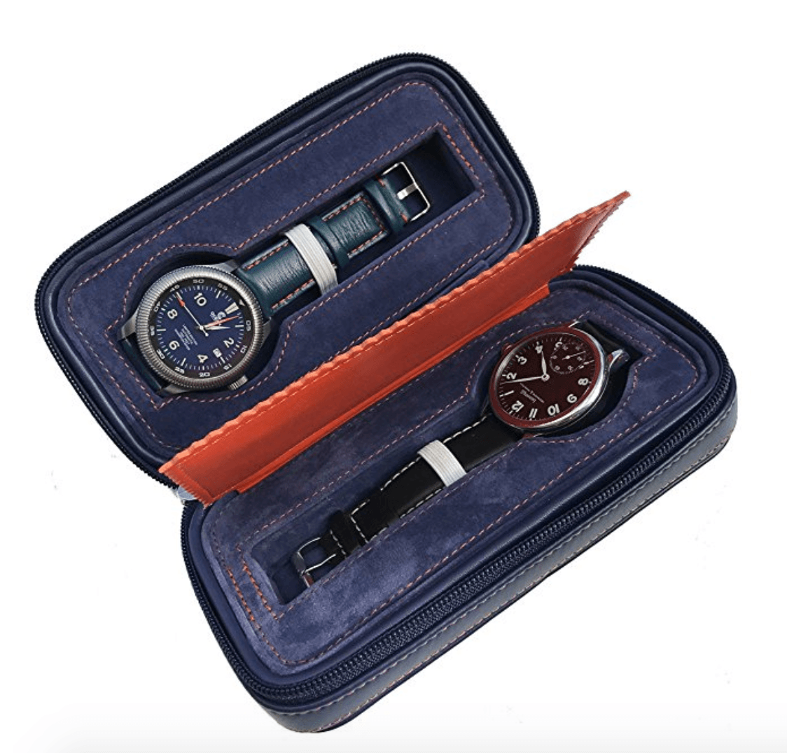 Leather Watch Storage Box gifts for travelers
