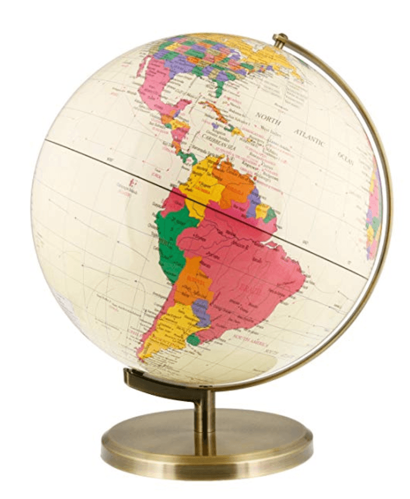 Antique Desktop World Earth Globe