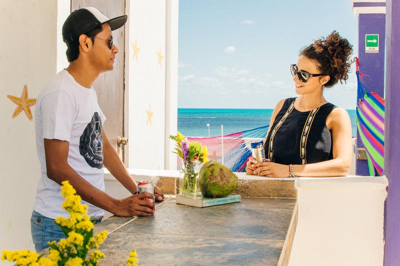 The Mermaid Hostel Beach best hostels in Cancun