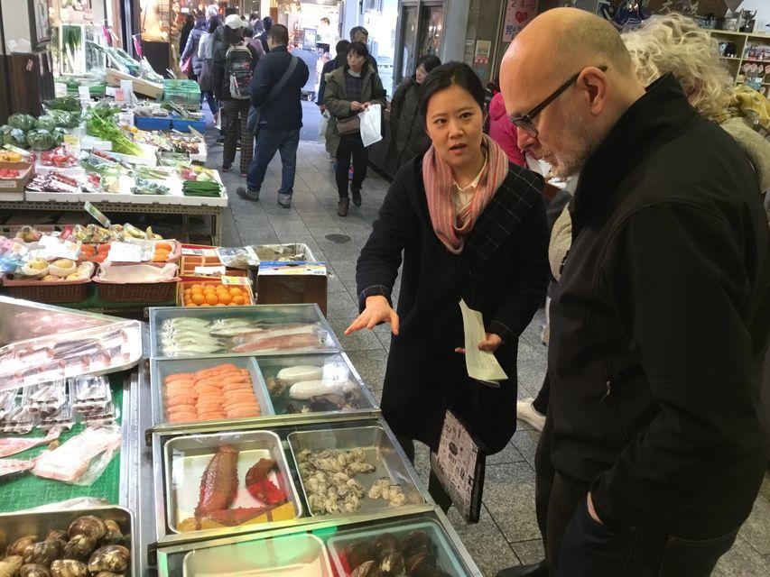 Visit the bustling Nishiki Market