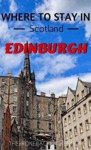 Where to Stay in Edinburgh PIN