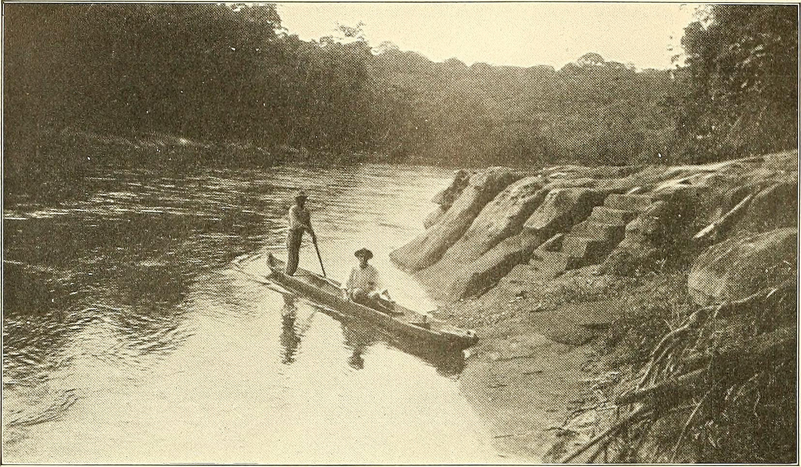 panama canal historical photo