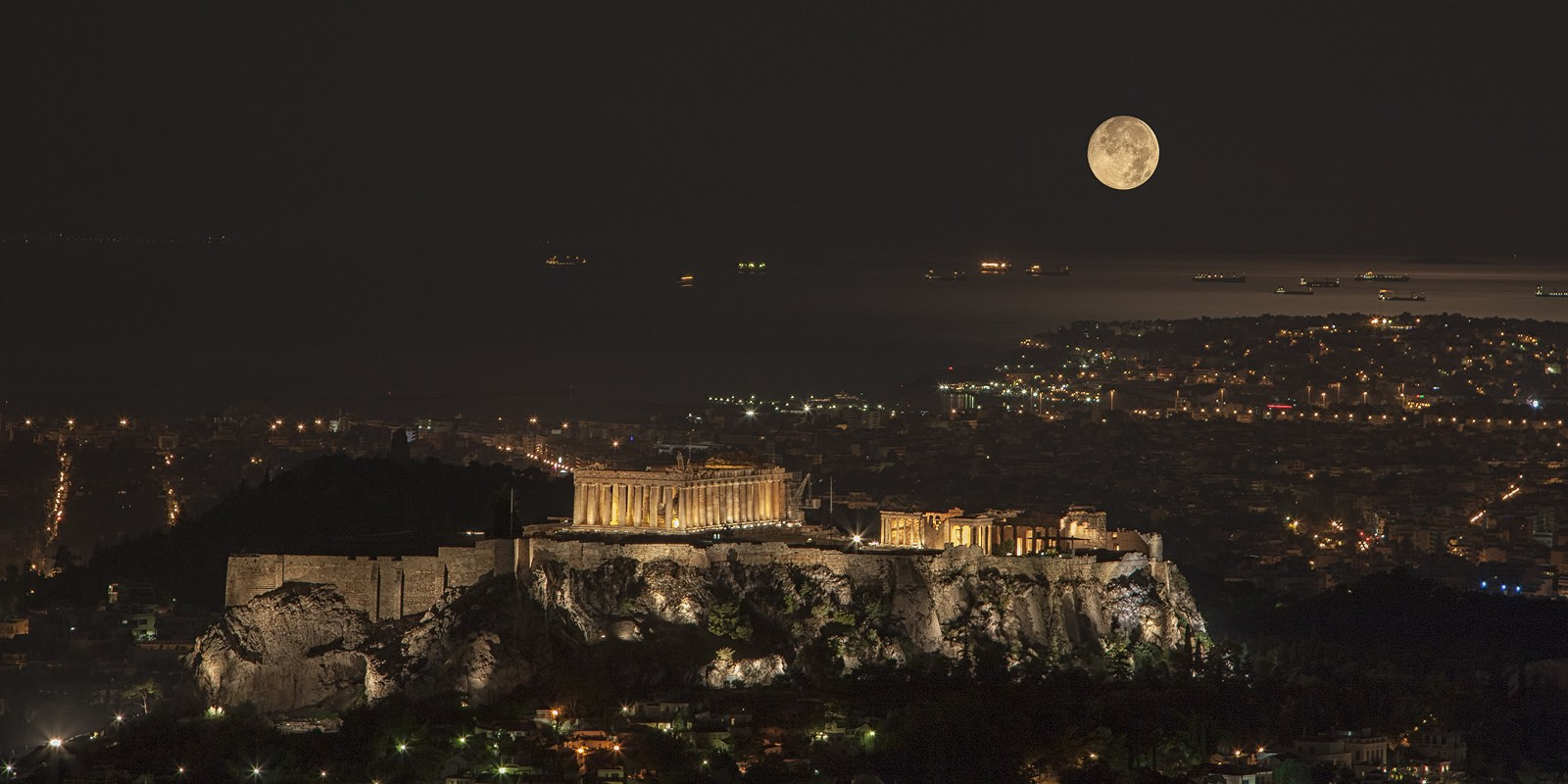 best views of the Acropolis and Athens at night