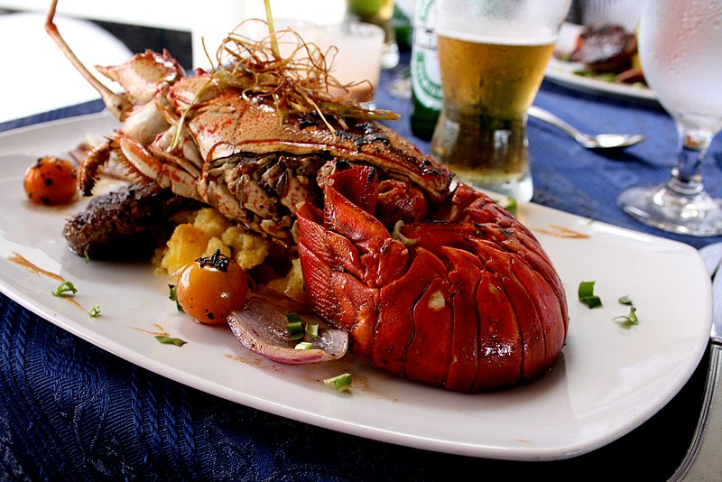 panama lobster dinner