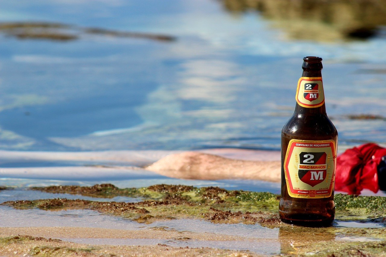 beer at the beach in mozambique