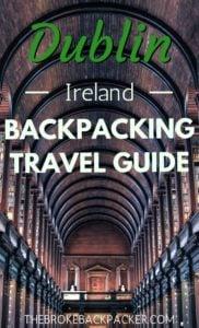 Dublin Backpacking City Guide PIN
