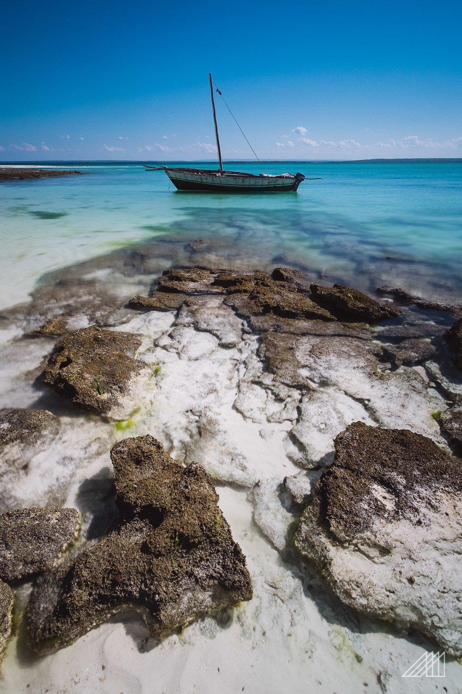 dhow mooring at quirimbas islands