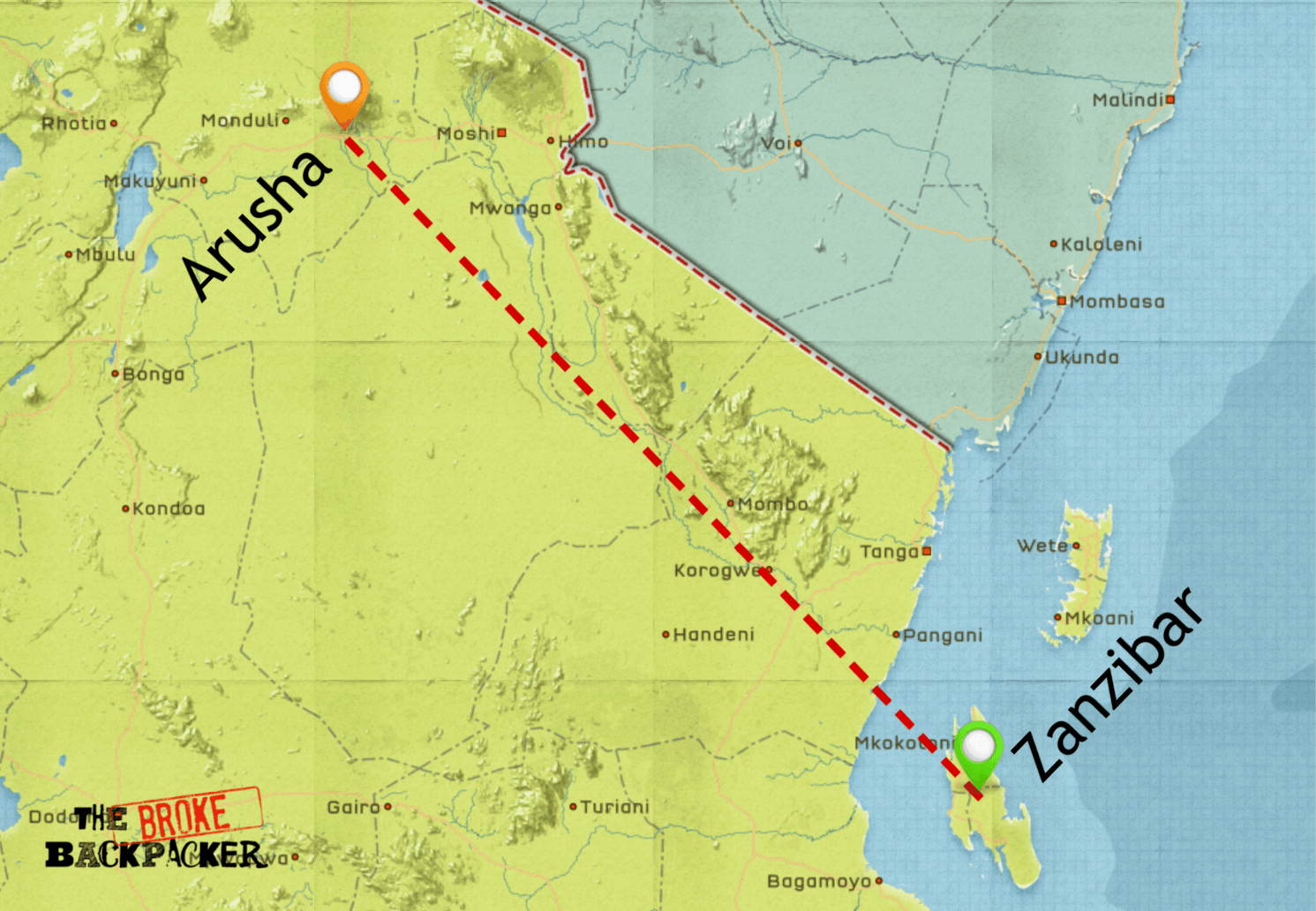 backpacking tanzania itinerary 7 days